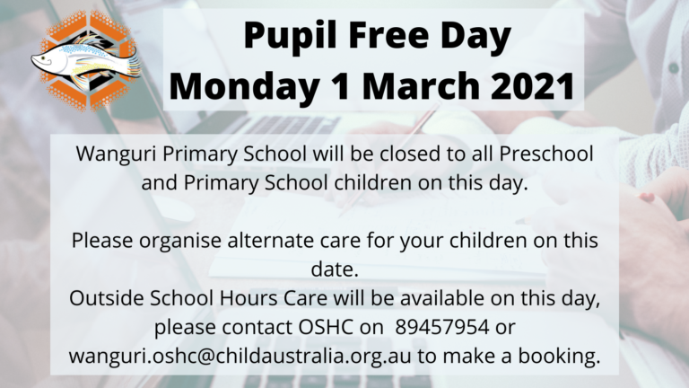 Pupil Free Day 2021