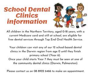 School Dental clinics info